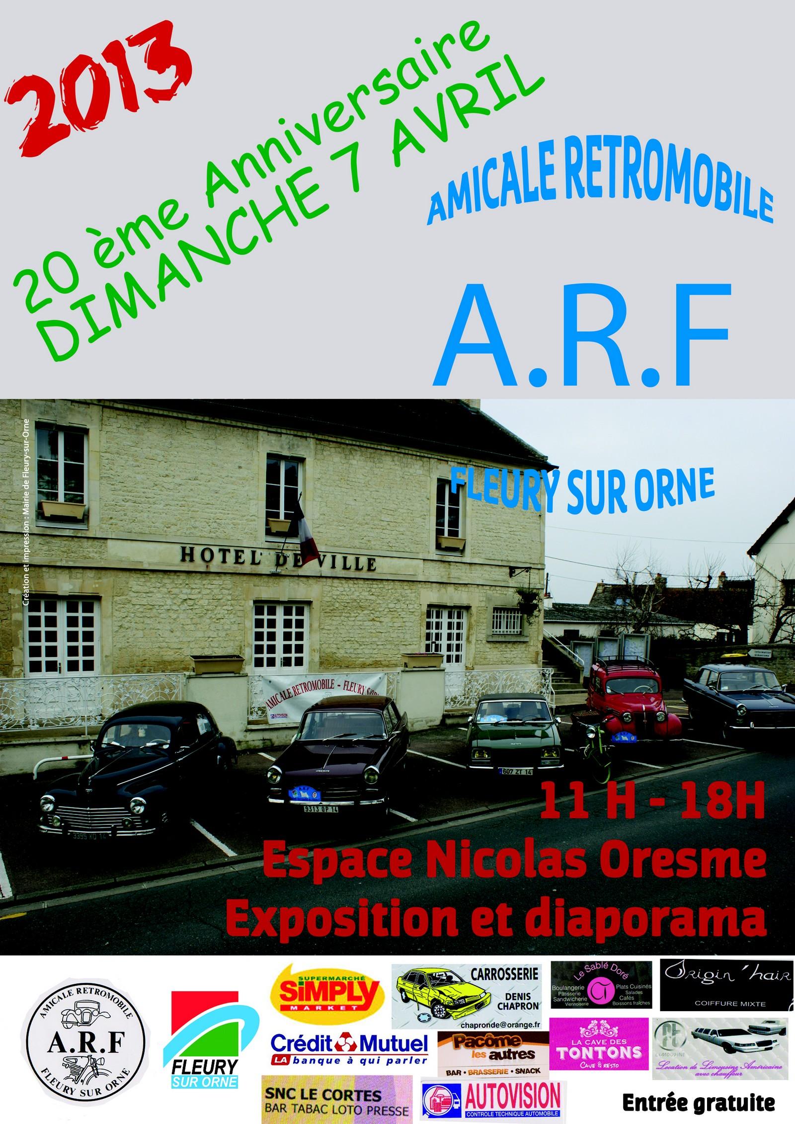 Affiche Anniversaire ARF