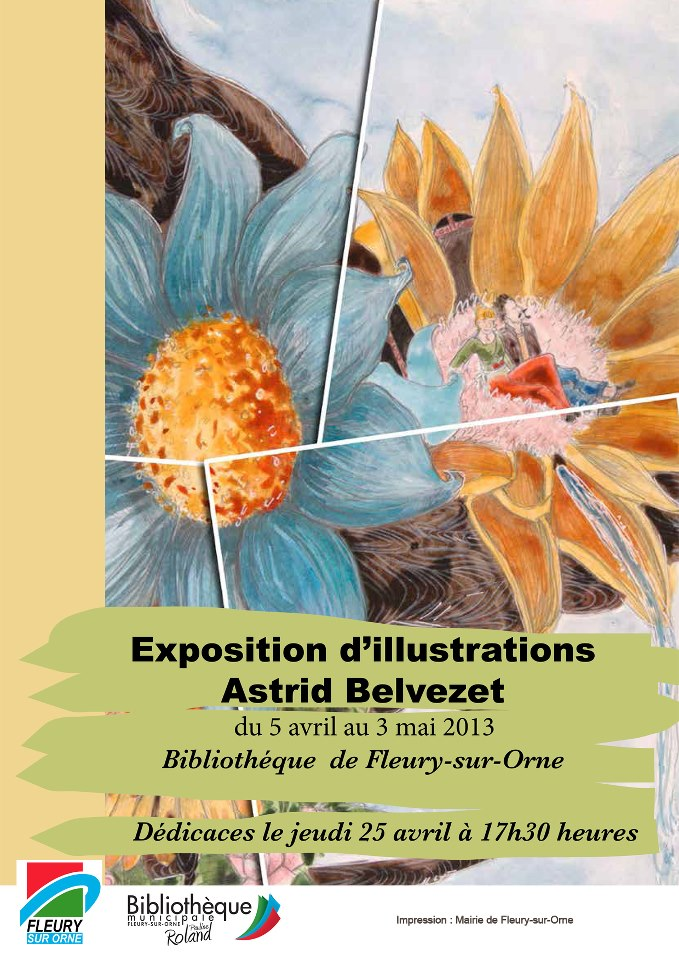 Exposition d'illustrations d'Astrid Belvezet