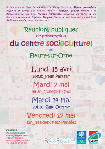 Réunion Publique Centre Socioculturel