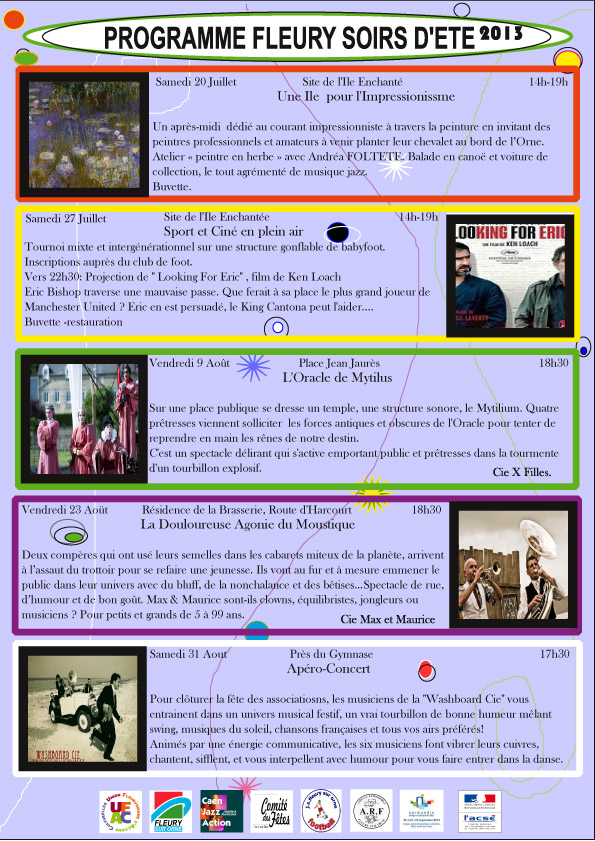 Programme - Soirs d'été 2013