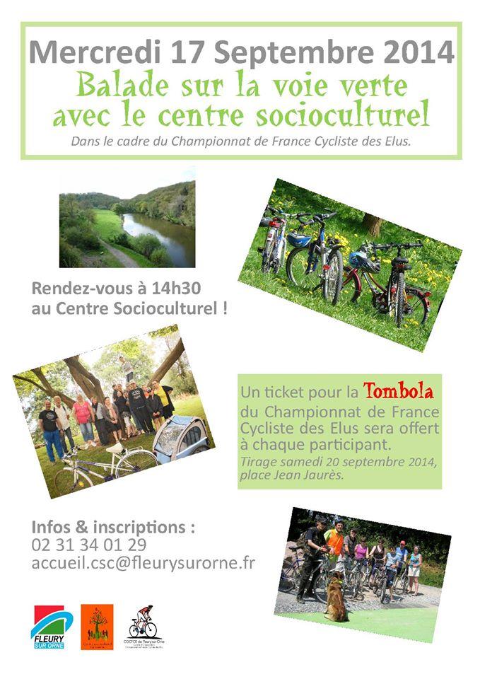 Balade sur la voie verte avec le centre socioculturel