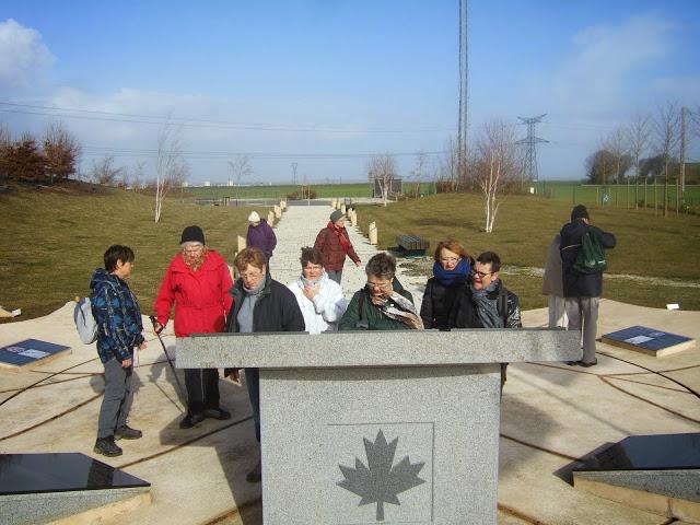 La balade du 24 février au mémorial canadien