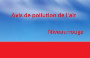 Niveau rouge pollution de l'air