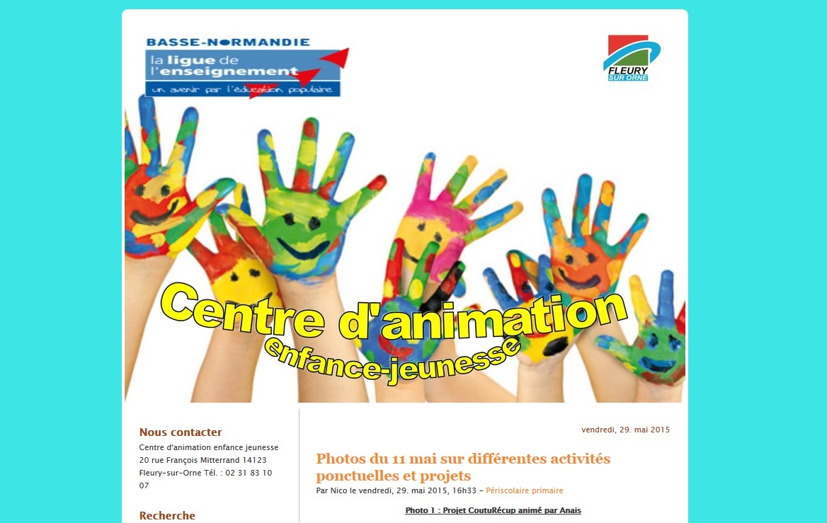 Blog centre d'animation