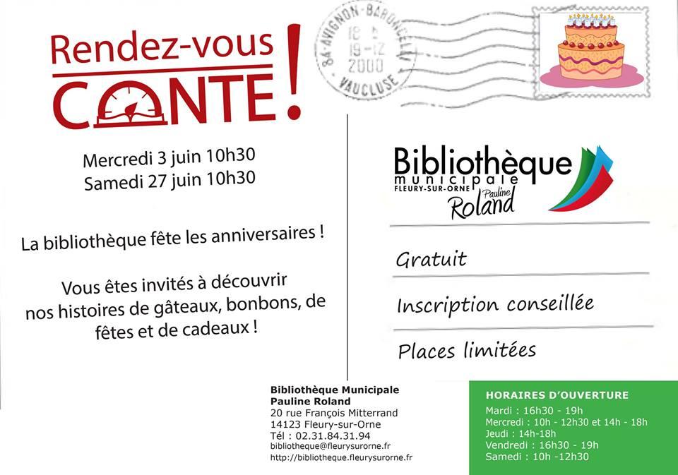 [Heure du conte] La prochaine séance aura lieu samedi 27 juin à 10h30 à la bibliothèque (20 rue François Mitterrand) pour les 2-5 ans !