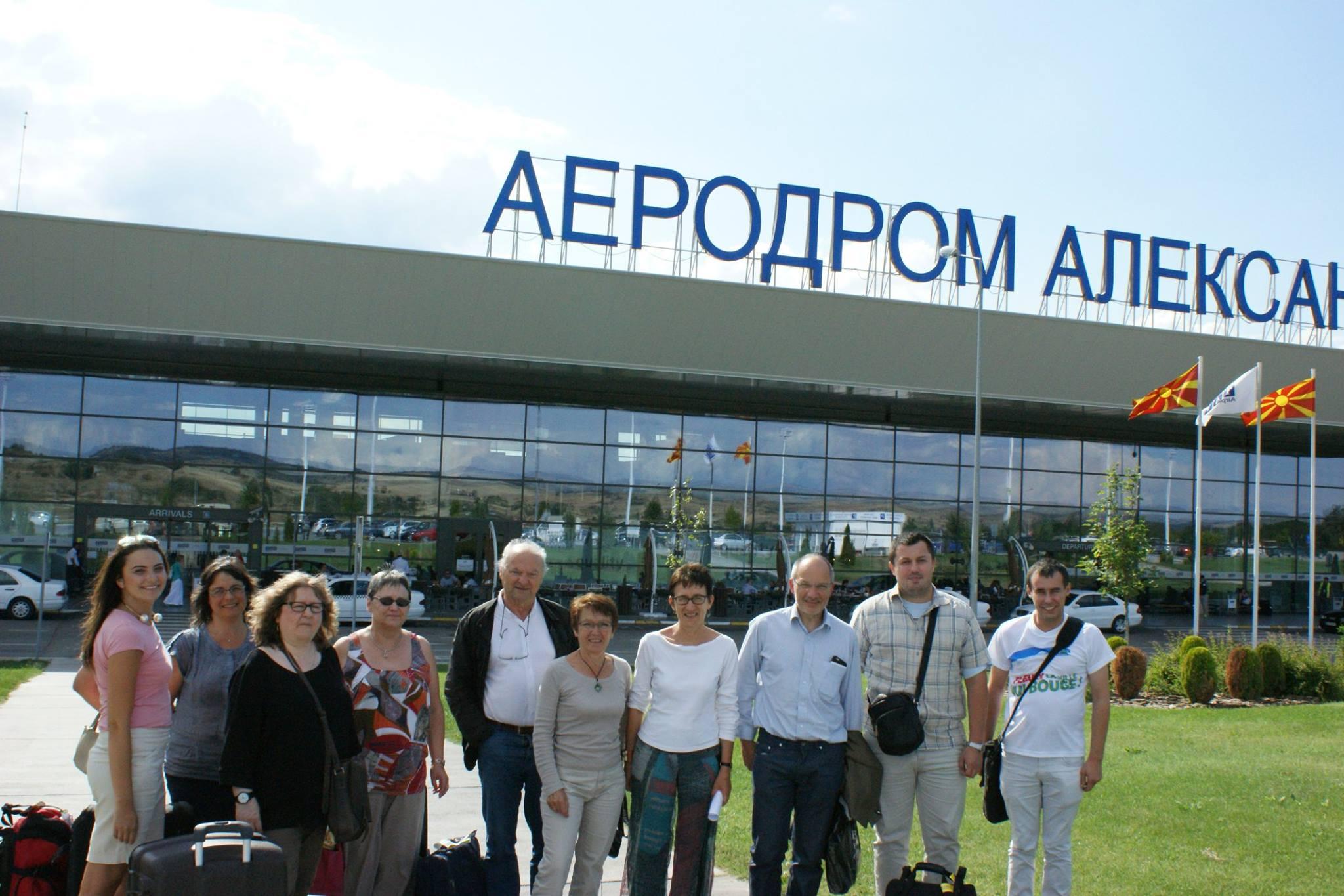 Arrivée d'une délégation fleurysienne à Karpoš en Macédoine
