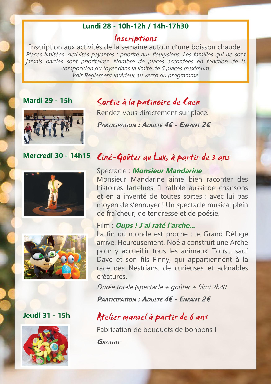 Programme LPT Noël 2015 2ème semaine