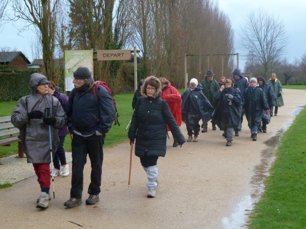La randonnée du 10 janvier 2016 à Fleury-Ifs-Mondeville-Caen