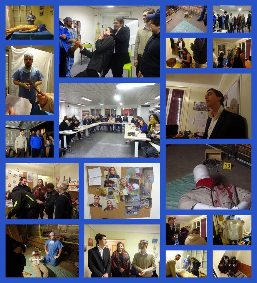 Montages photos de la soirée de l'enquête judiciaire de samedi dernier !!