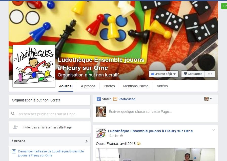 Fanpage Ludothèque