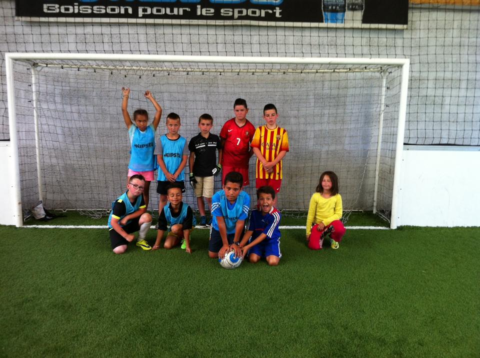 Soccer indoor cet après-midi pour les enfants du stage foot